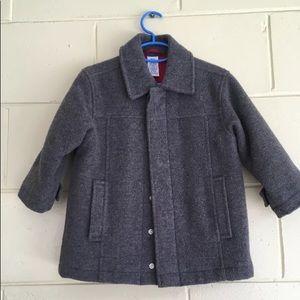 Gray  pea boys wool coat